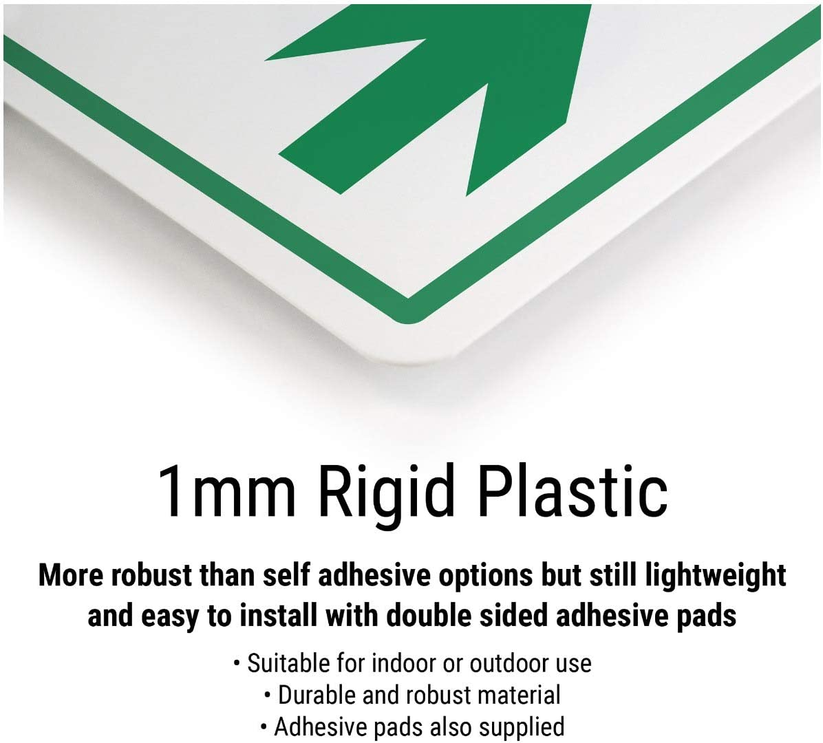 Vsafety COVID-Secure Workplace 1mm Rigid Plastic 300mm x 400mm