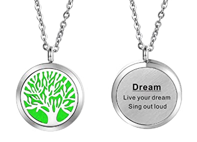 Hooami Aromatherapy Essential Oil Diffuser Necklace Dream Tree Of