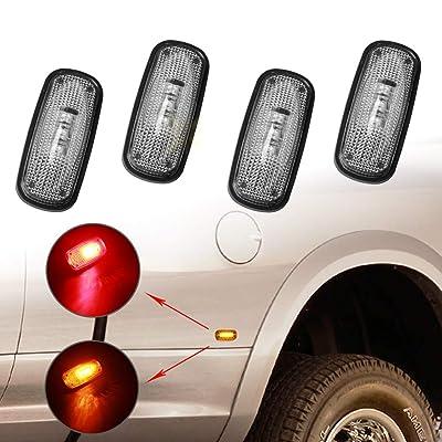 3-LED Side Marker Lights for 2010-2020 Dodge Ram 2500 3500 (2x Amber 2x Red) LED Dually Cab Bed Fender Light Amber Lens & Red Lens …: Automotive