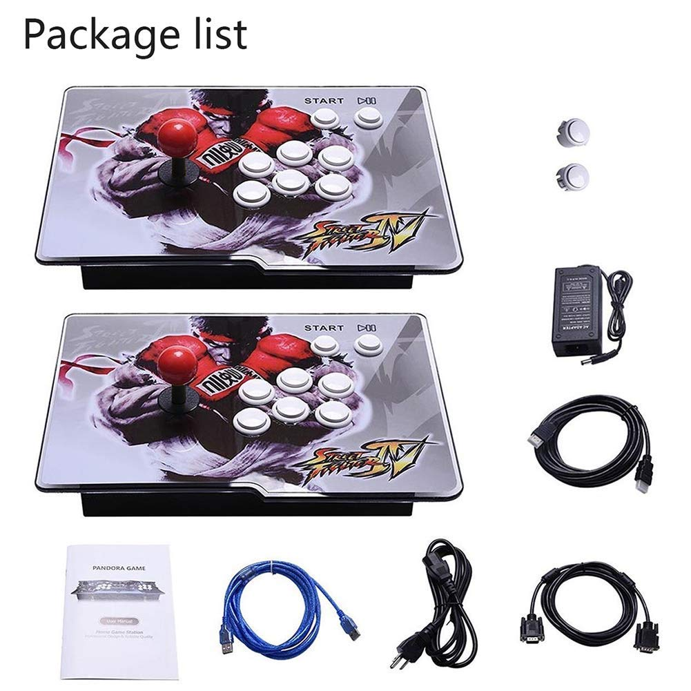 PinPle Arcade Game Console 1080P 3D & 2D Games 2260 2 in 1 Pandora's Box 3D 2 Players Arcade Machine with Arcade Joystick Support Expand Games for PC / Laptop / TV / PS4 (Pandora's Box) by PinPle (Image #6)