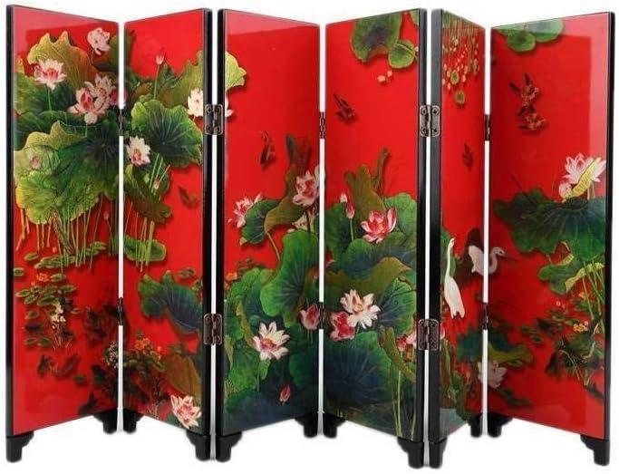 Paravent Miniature - Objeto de decoración (Ambiente asiático, 24 cm de Altura), diseño de Flor de Loto: Amazon.es: Hogar