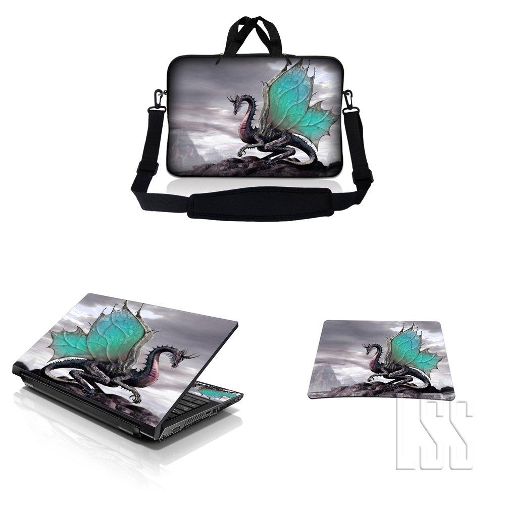 2019年激安 ノートパソコン& MacBook 17 ProスリーブバッグキャリーケースW/ハンドル&調節可能なショルダーストラップ& Matchingスキンステッカー&マウスパッドFits 16 MacBook