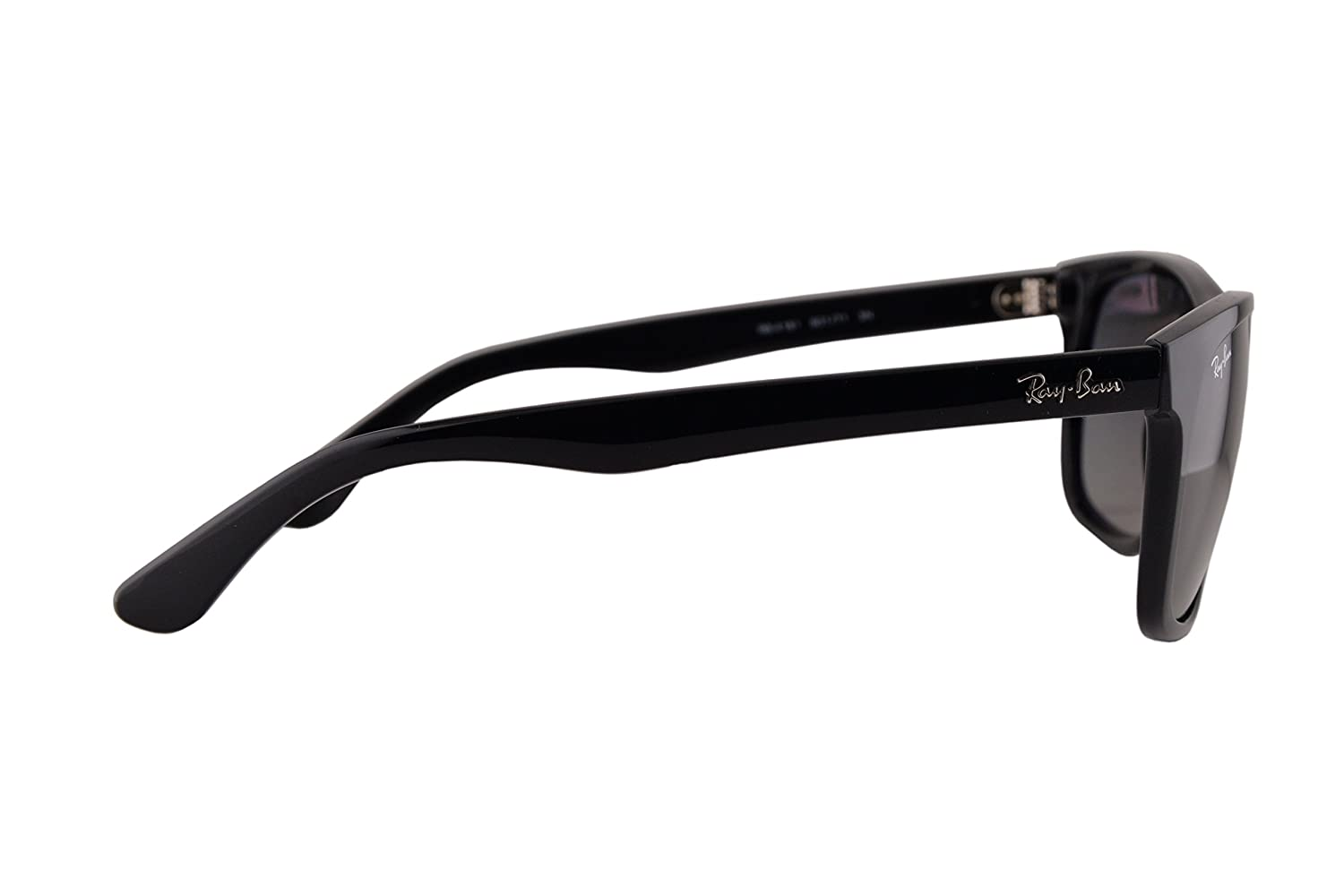 88da543e5f Ray Ban RB4181 Sunglasses Black w Crystal Grey Gradient Azure Lens 60171 RB  4181  Amazon.co.uk  Clothing