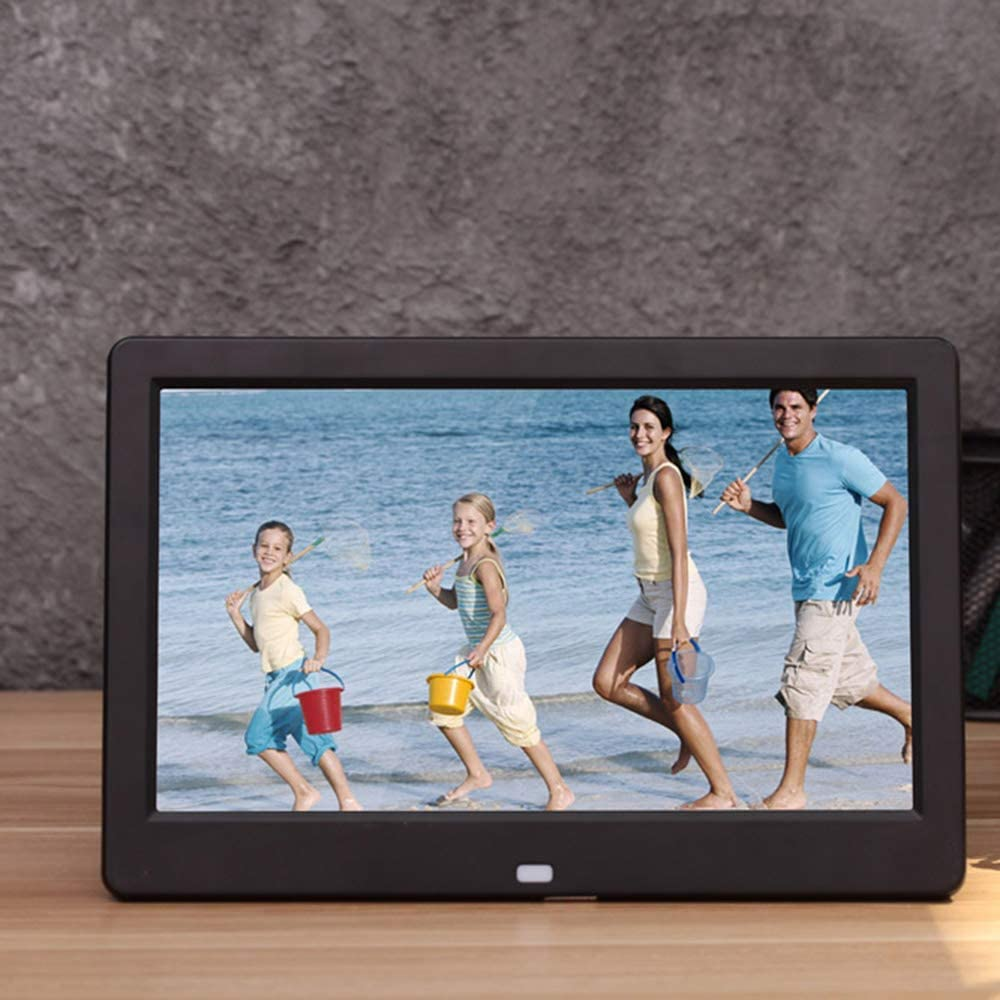 10 Inch High-Definition Screen Electronic Photo Frame 1024/×600 High-Definition Video Digital Photo Frame Music Playback Support USB and SD Card Digital Photo Frame