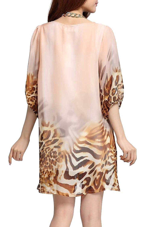 Raivar Mariposa Chiifon y Animal Print Vestido, UK tamaños (8/10/12/14/16/18/20/22/24): Amazon.es: Ropa y accesorios