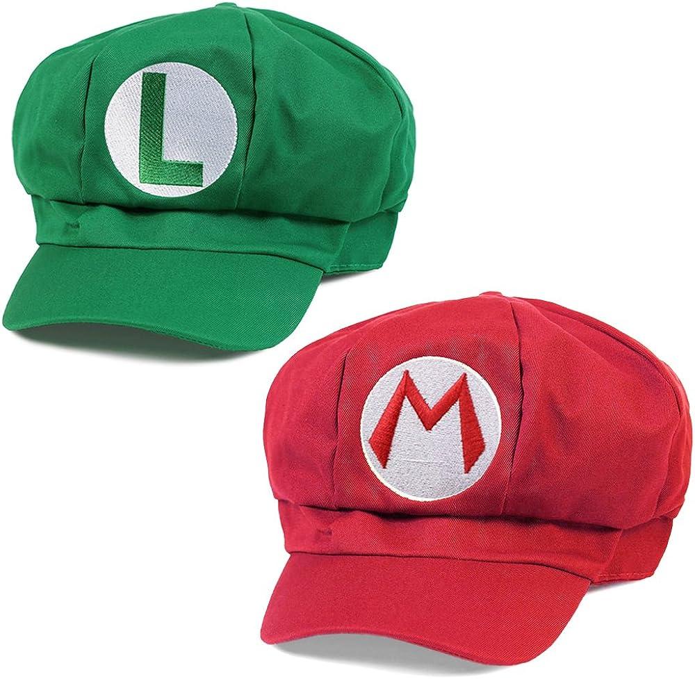 Klimbim - Conjunto de 2 gorras de Super Mario y Luigi, perfectas ...