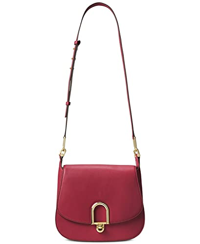 2957f32a2463a MICHAEL Michael Kors Delfina Small Leather Saddle Bag in Burnt Red  Handbags   Amazon.com