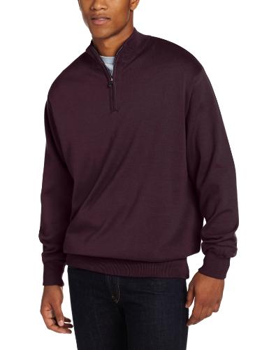 (Cutter & Buck Men's Sandpoint Half Zip Golf Wind Sweater, Madera, Small)