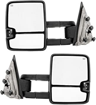 For 2015-2018 Sliverado Passenger Side Side Folding Power Heated Chrome Mirror