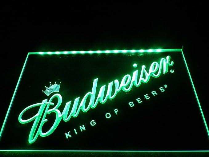 Budweiser LED caracteres Publicidad Neon Cartel verde ...