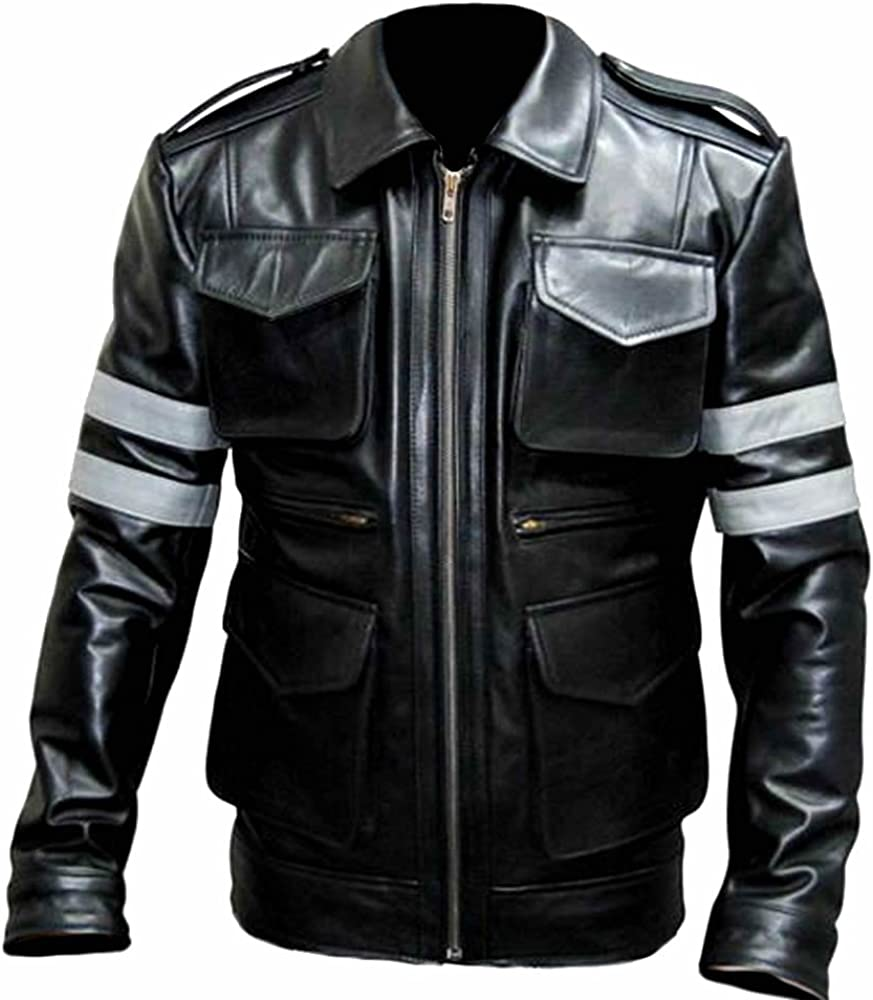 Sleekhides Mens Real Leather Moto Evil Jacket