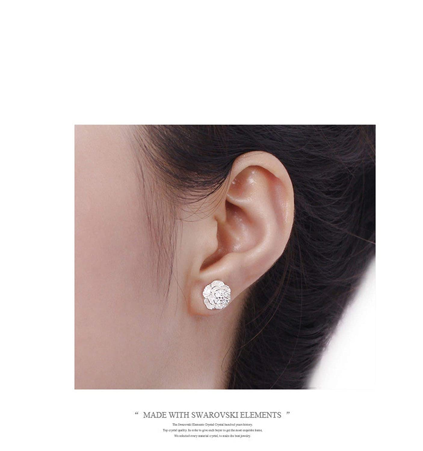 Jewelry The Love Of Romantic And Cherry Silver Stud Earrings