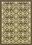 """Granville Rugs Monterey Indoor/Outdoor Area Rug, Green/Cream/Brown, 6′ 7 x 9′ 6″"""" For Sale"""