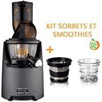 Pack extracteur Kuvings EVO820 Gris Mat Anthracite + kit à sorbets et smoothies