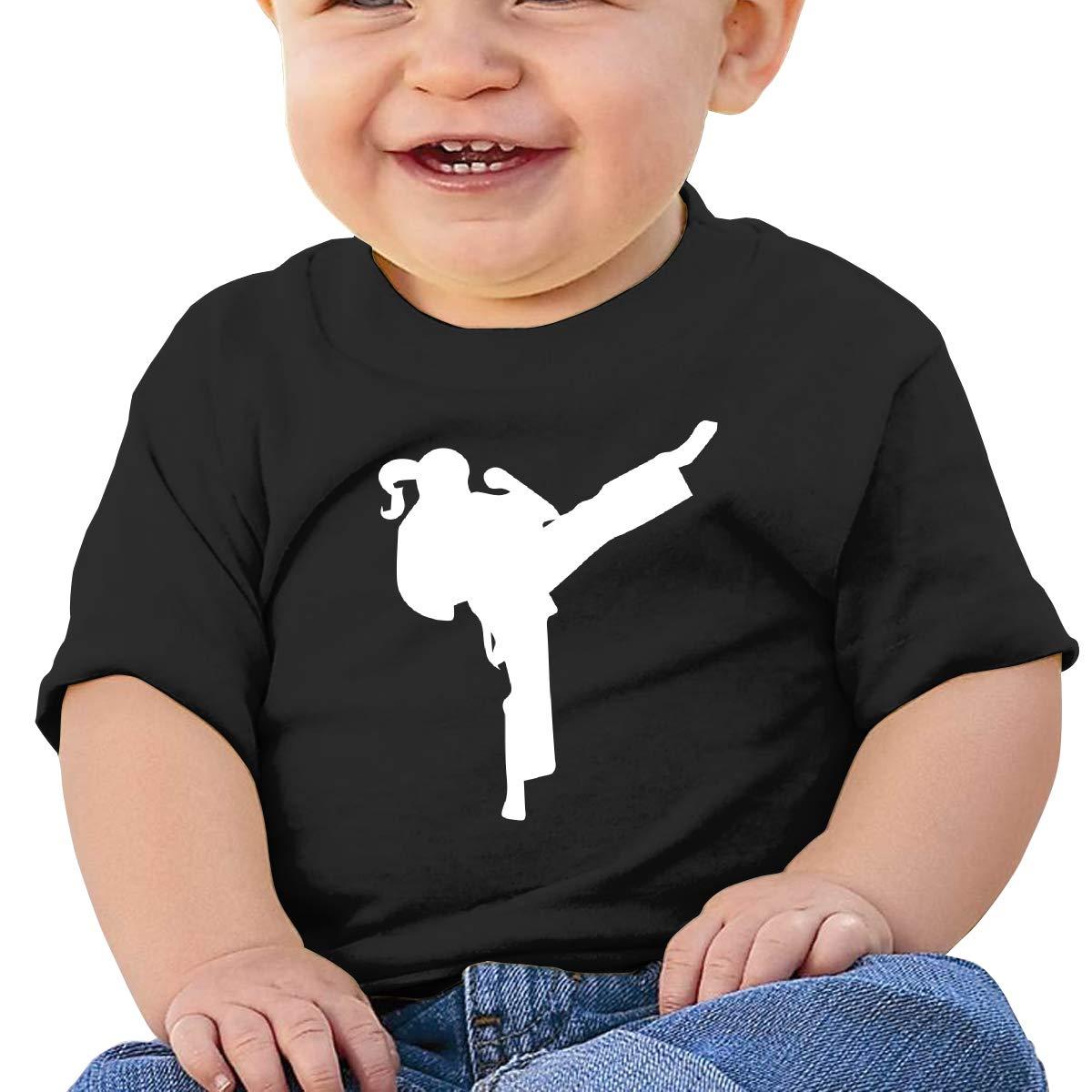 Karate Girl Baby Boy Newborn Short Sleeve Tee Shirt 6-24 Month Soft Tops