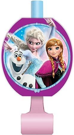 8ct Unique Frozen Party Blowers