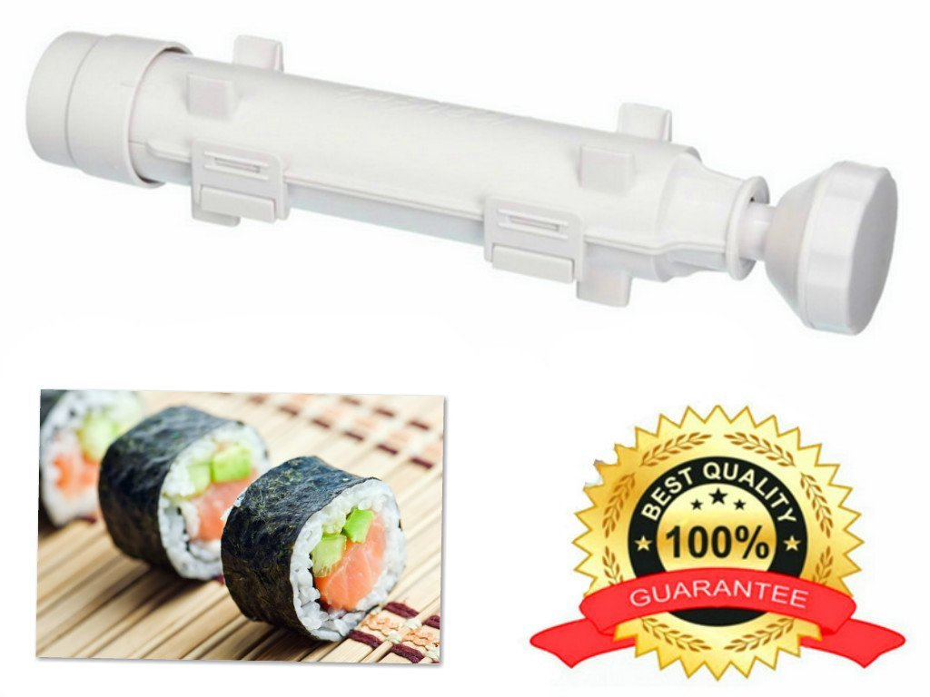 Maxware Sushi Roller Kit DIY sushi Maker Machine-Sushi Bazooka Roll tool for the Best All in 1 Sushi Making AT INNOVATION