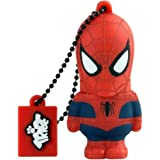 Tribe Disney Marvel Avengers Spiderman Chiavetta USB da 16 GB Pendrive Memoria USB Flash Drive 2.0 Memory Stick, Idee Regalo Originali, Figurine 3D, Archiviazione Dati USB Gadget in PVC con Portachiavi - Rosso