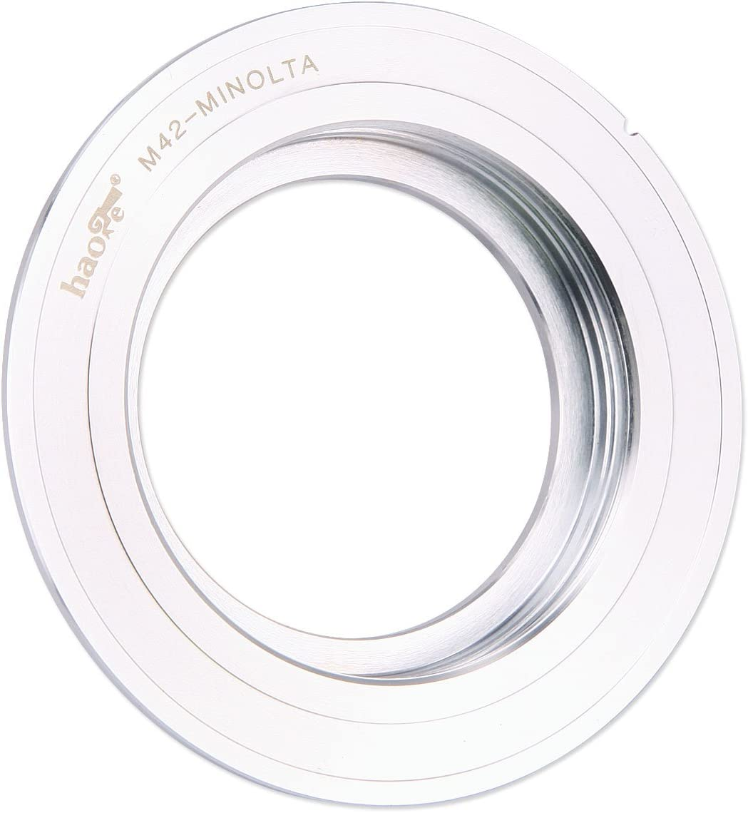 XG-M X-700 XD-11 XK SR-7 XE X-500 XM XE-5 SR-T 101 X-570 XD-7 XE-7 Haoge Manual Lens Mount Adapter for 42mm M42 Mount Lens to Minolta SR MD MC Mount Camera Such as SR-2 XE-1 X-1