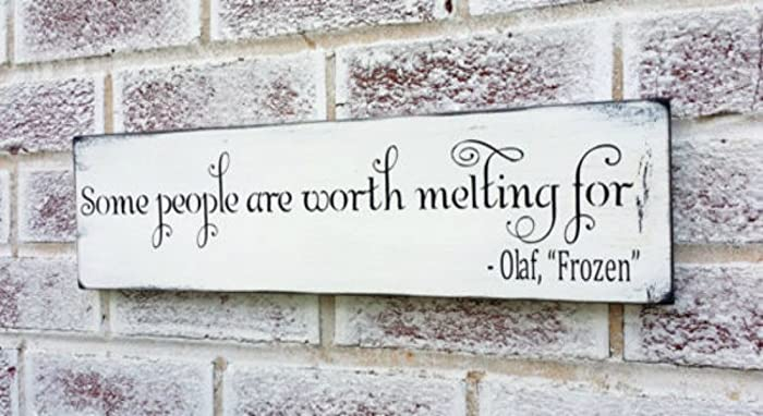 Amazon frozen movie quote some people are worth melting for frozen movie quote some people are worth melting for winter wedding decorations christmas junglespirit Gallery