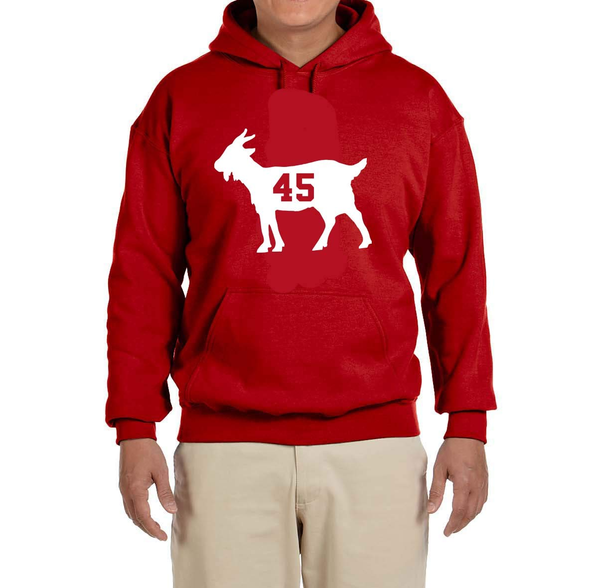 Red Griffin Goat Hooded Shirts