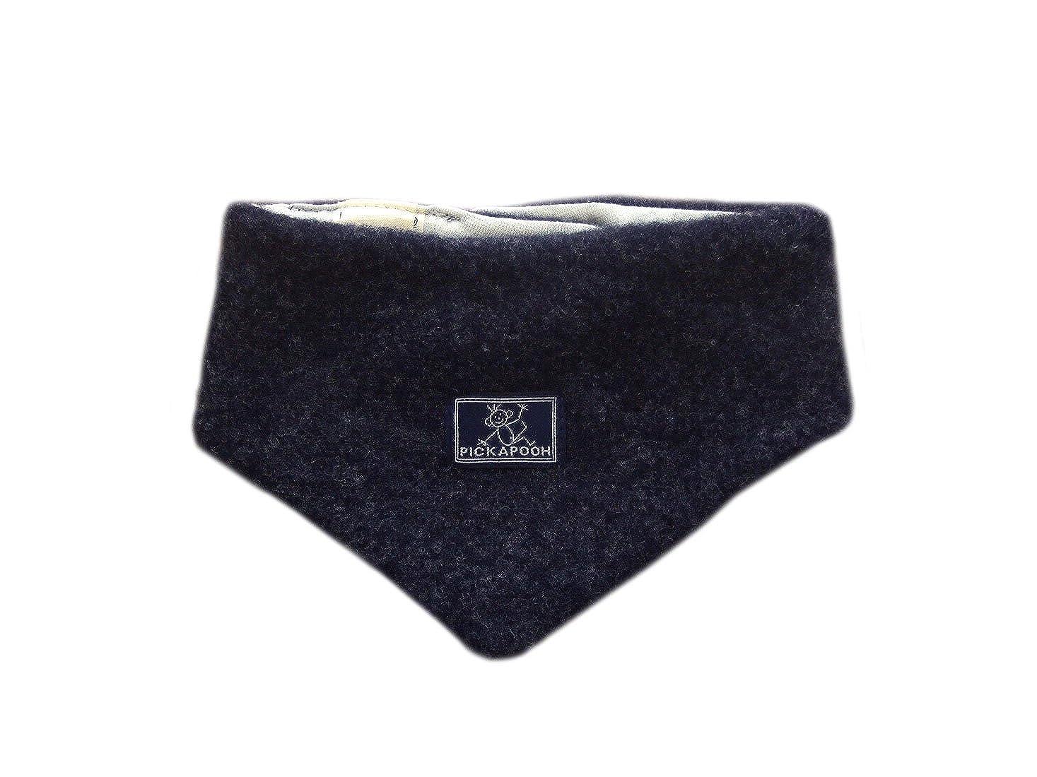 PICKAPOOH Neck warmer 100/% MERINO wool Baby Boy Girl scarf neckerchief cotton fleece winter