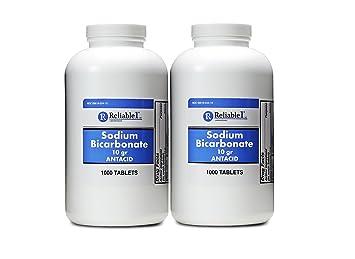 Sodium Bicarbonate 650 mg 1000 Antacid Tablets, for Relief of Acid  Indigestion, Heartburn,
