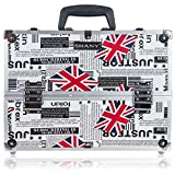 SHANY Essential Pro Makeup Train Case with Shoulder Strap and Locks - LONDON