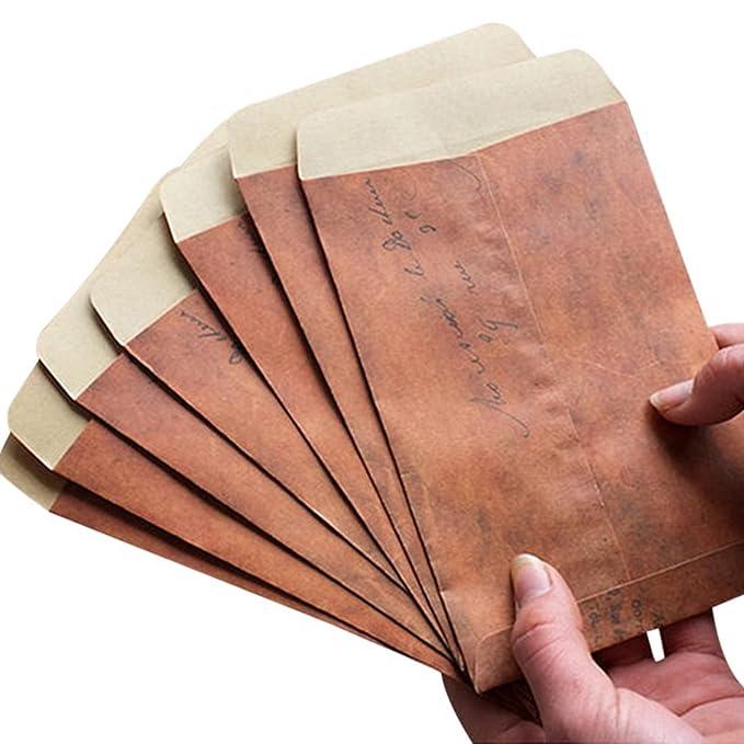 Paper Envelopes Mail & Shipping Supplies 50pcs Kraft Paper Envelopes For Wedding Announcement 16x11cm