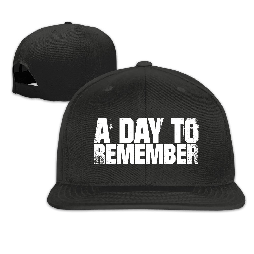 A Day To Remember Logo Unisex Adjustable Flat Bill Hat Baseball Cap Black