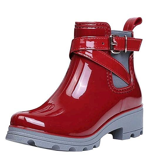 Luckycat Botas de Agua Mujer Lluvia Altas Zapato