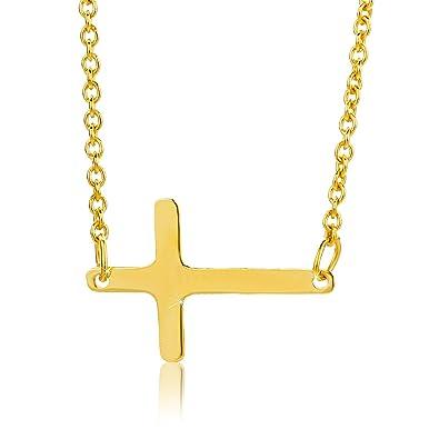 Goldkette damen kreuz  Orovi Damen Halskette GelbGold 9 Karat(375) Kreuz Anhänger ...