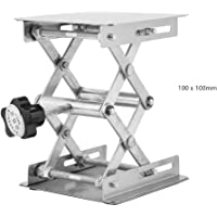 Gato de laboratorio, plataforma elevadora de acero inoxidable