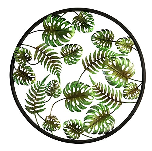 Palm Leaf Wall Sculpture - Boston Warehouse Metal Wall Décor, Palm Leaves, 24