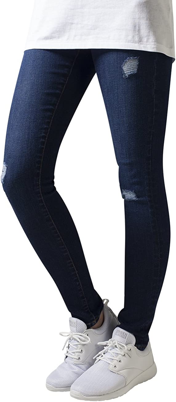TALLA 29W / 32L. Urban Classics Ladies Ripped Denim Pants Jeans para Mujer