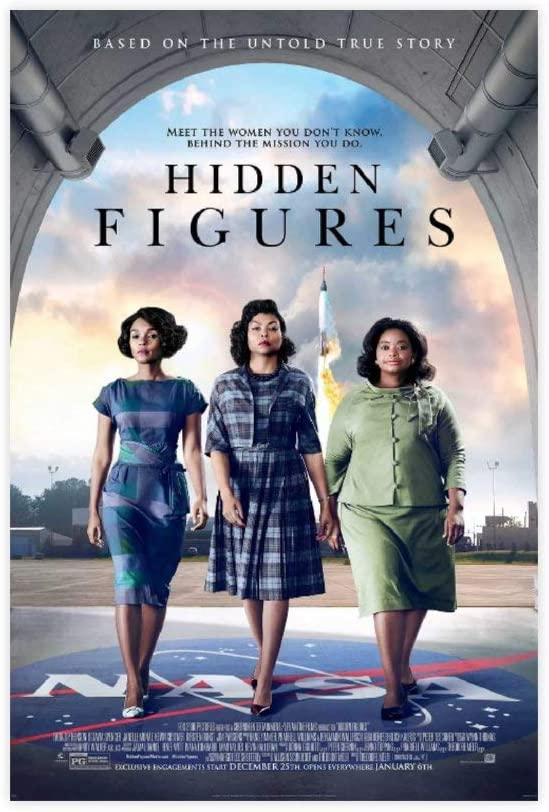Movie Hidden Figures Canvas Poster Wall Art Decor Print Picture Paintings for Living Room Bedroom Decoration 12×18inch(30×45cm) Unframe-style1