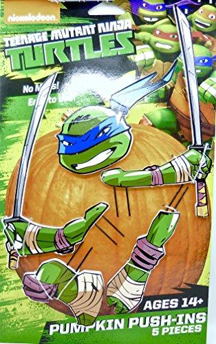 Pumpkin Push-Ins 5 Pieces : Teenage Mutant Ninja Turtles (No ()