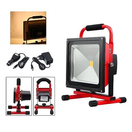fsders Batería 50W LED Lámpara roja Trabajo Ligero proyector ...