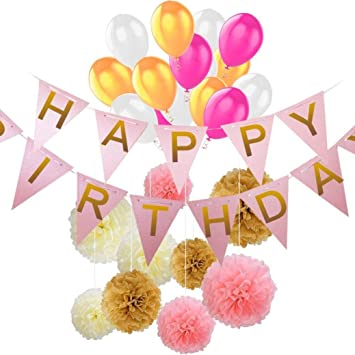 30 Piece Birthday Balloons Anniversary Decoration Set By Voberry