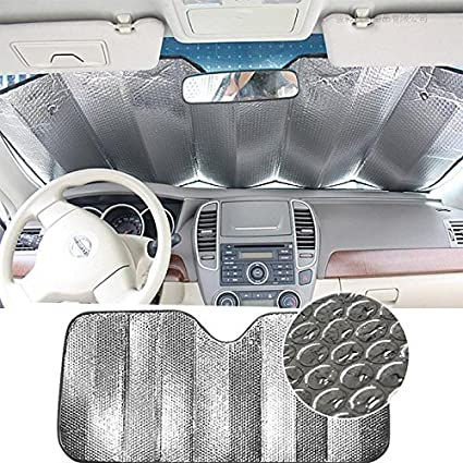 Lightweight Foldable Car Front Rear Windshield Fit Windscreen Car Large Or Small Excellent UV Heat and Sun Reflector Double Sided Car Windshield Sun Shade