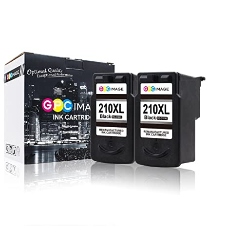 GPC Image Remanufactured Ink Cartridge Replacement For Canon PG 210XL 2 Black