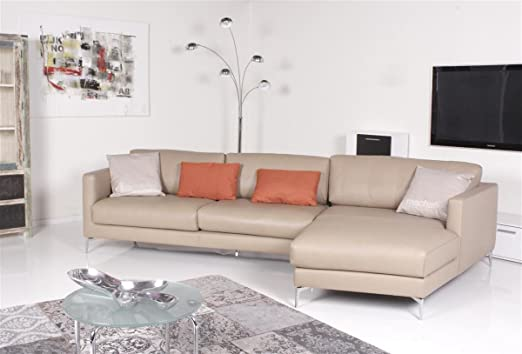 Machalke Sofa Durini Longchair Rechts Leder Nappa Seta Sand Amazon
