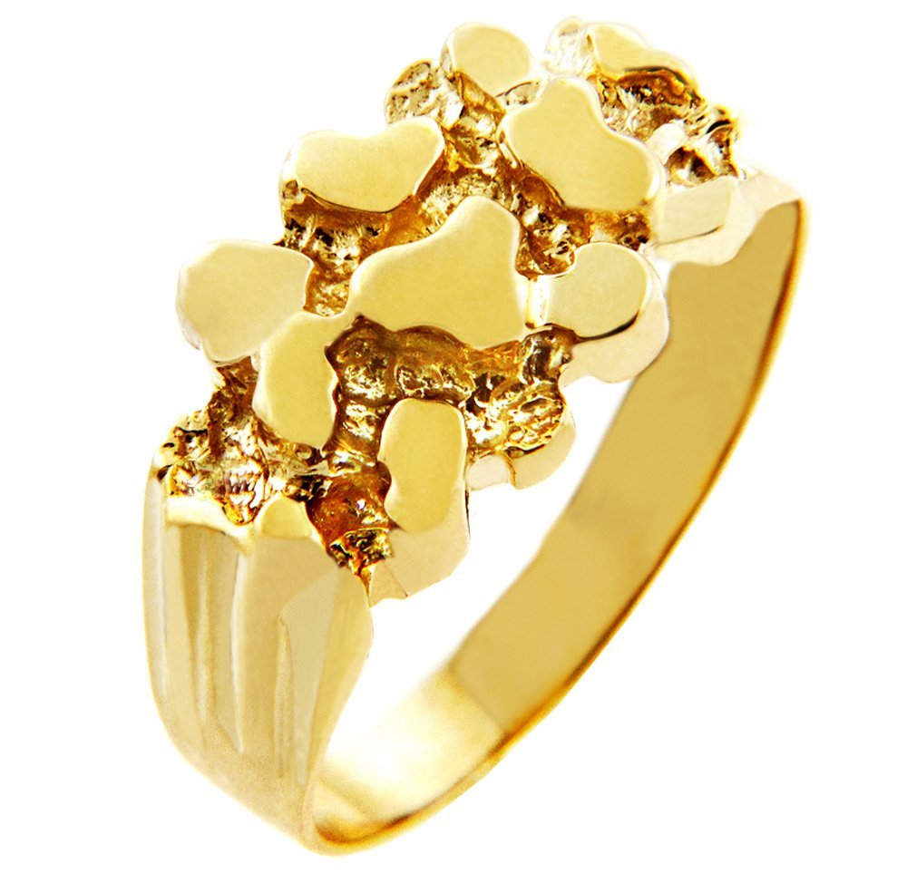 Men's 14k Gold Nugget Rings ''The Rock'' (11.75)