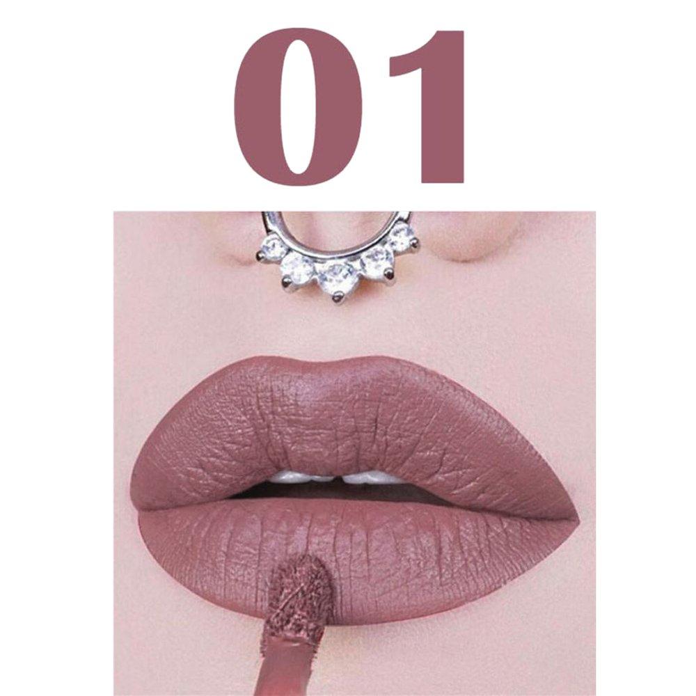 Covermason Metallic Matte Liquid Lipstick Velvet Glossy Lip gloss 16 Colors Optional Lip Cream (A)