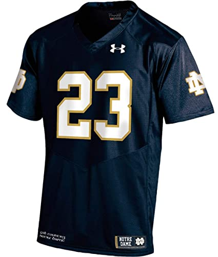 d4c909b32 Under Armour Notre Dame Fighting Irish Youth  23 Navy Sideline Replica  Football Jersey (Youth