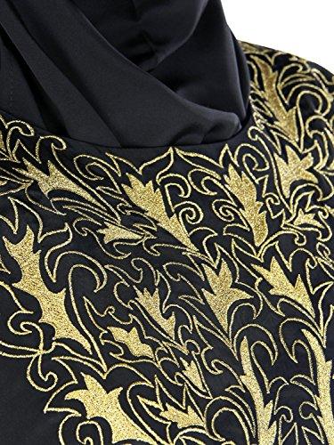 MyBatua Iffah Kaftan Lange schwarze Abaya Burqa Kleid KF-028