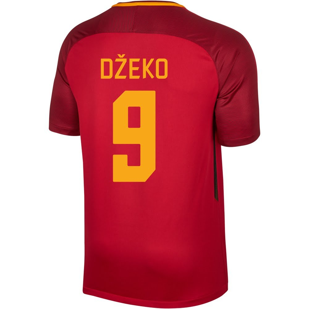 As Roma Home Kids Dzeko 9 Jersey 2017 /2018 (ファンスタイル印刷) B075MQDCVK 158-170