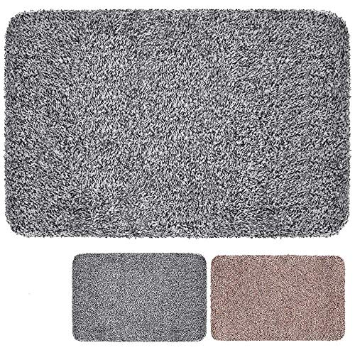 "BEAU JARDIN Indoor Super Absorbs Mud Doormat 36""x24"" Latex Backing Non Slip Door Mat for Front Door Inside Floor Dirt Trapper Mats Cotton Entrance Rug Shoes Scraper Machine Washable Rug Carpet"