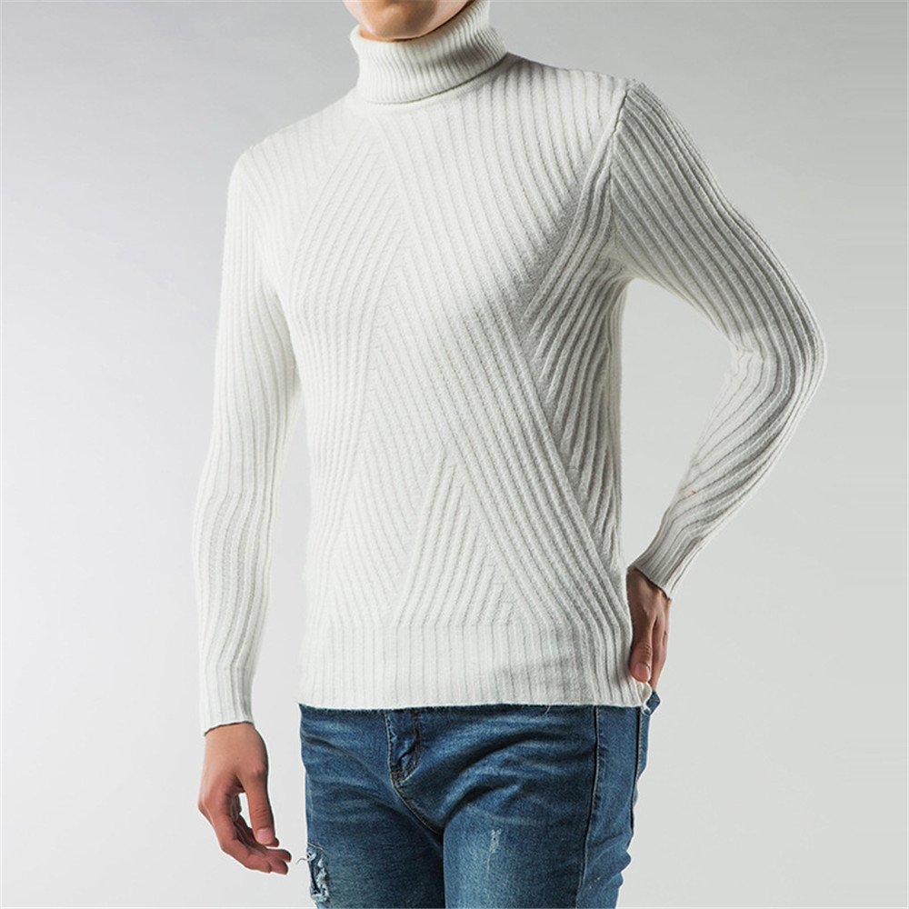 Jdfosvm männer - Mode - Winter, männer mit Langen ärmeln Rollkragen - Pullover Kopf,weiße,l