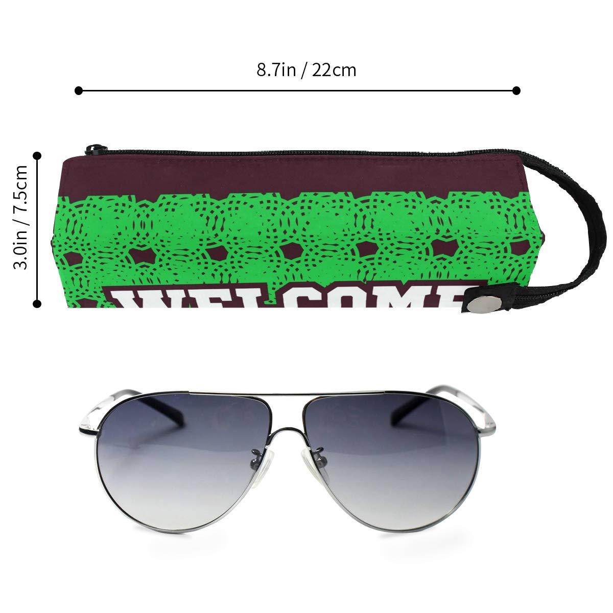 Welcome Glasses Case Women Men Eyeglasses Bag Pencil Case Pouch